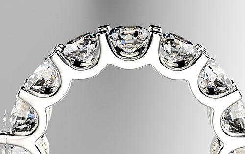 エクセレントカットのダイヤを施して、結婚指輪をエタニティリングにしたい