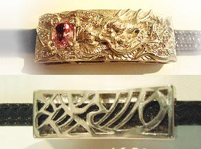 龍とパパラチャサファイアのオリジナルオーダーメイドブレスレット