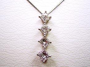 4個のダイヤモンドのスウィングペンダント リフォーム後