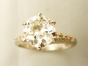 立爪のダイヤモンドリング リフォーム前