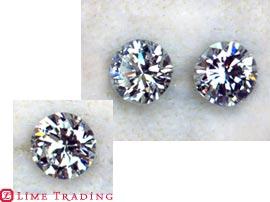 大きさの違うダイヤモンドのルース リフォーム前