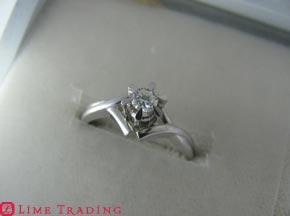 ダイヤモンドの指輪 リフォーム前