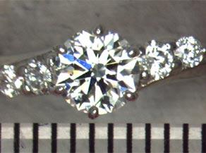 プラチナ台のダイヤモンドデザインリング リフォーム前