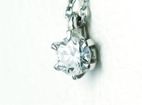 ダイヤモンドのプチペンダント リフォーム後