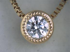 ダイヤモンドのネックレス リフォーム後