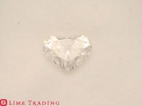 ハート型のダイヤモンドのルース リフォーム前