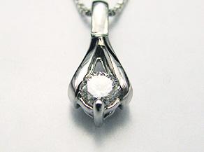 ダイヤモンドのペンダント リフォーム後