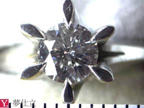 0.5ctダイヤモンドの立爪リング リフォーム前