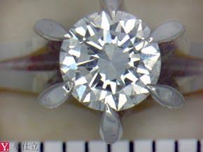 0.3ctのダイヤモンドの立爪リング リフォーム前