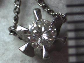 ダイヤモンドのペンダント リフォーム前