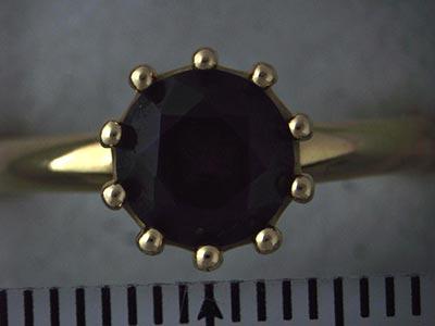 ガーネットの指輪 リフォーム前