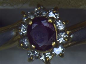 ルビーのダイヤモンド取り巻きリング リフォーム前