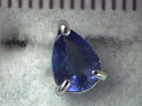 青色石のピアス リフォーム前