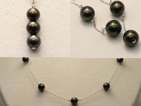 黒真珠のネックレス リフォーム後