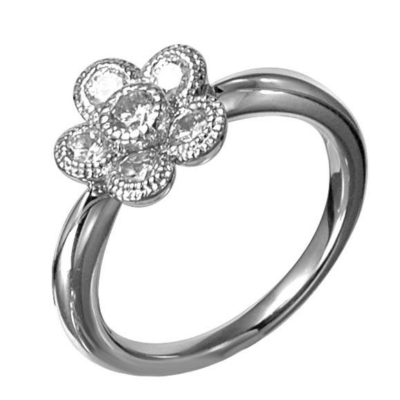 シンプルなお花モチーフのリング