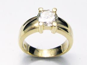 ダイヤモンドリングの新品仕上げ 仕上げ直し後