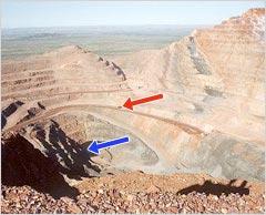 ピンクダイアモンドの採掘場