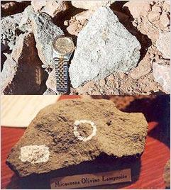 ダイアモンドの母岩(ランプロアイト)