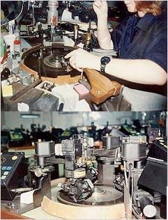 自動研磨機で研磨