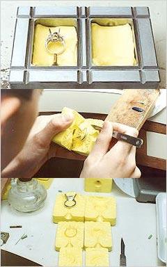ゴム型の製作